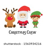 cute christmas crew including... | Shutterstock .eps vector #1563934216