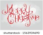 merry christmas vector text... | Shutterstock .eps vector #1563934690