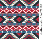 seamless colorful aztec pattern | Shutterstock .eps vector #156394103