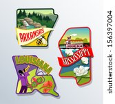 arkansas,boulders,cotton,decal,diorama,drawing,forest,honey bee,hot springs,jazz,labels,landscape,louisiana,magnolia,map