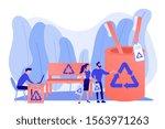 reusable items  non recyclable...   Shutterstock .eps vector #1563971263