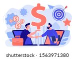 b2b sales person selling... | Shutterstock .eps vector #1563971380
