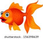 Stock vector golden fish cartoon 156398639