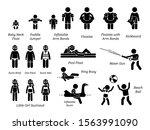 children and kids swimming aids ... | Shutterstock .eps vector #1563991090