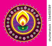 diwali candle light indian new... | Shutterstock . vector #156400589