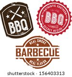 vintage style barbecue bbq...   Shutterstock .eps vector #156403313