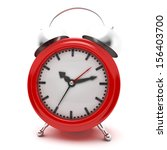 red alarm clock on a white... | Shutterstock . vector #156403700