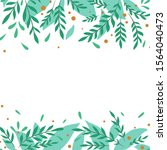 square card with flat foliage... | Shutterstock .eps vector #1564040473