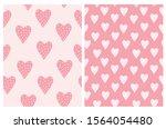 funny heart seamless vector... | Shutterstock .eps vector #1564054480