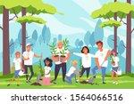 nature  family  environmental... | Shutterstock .eps vector #1564066516