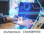technology and communication...   Shutterstock . vector #1564089550