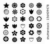flower set | Shutterstock .eps vector #156409478