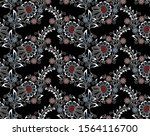 seamless floral pattern with... | Shutterstock .eps vector #1564116700