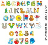 English Alphabet And Numerals...