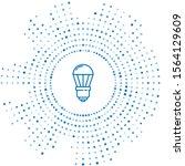 blue line led light bulb icon... | Shutterstock .eps vector #1564129609
