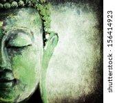 Green Old Grunge Buddha