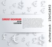 currency symbol with space for... | Shutterstock .eps vector #156416843