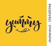 mood food. lettering... | Shutterstock .eps vector #1564185346
