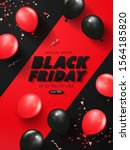 black friday sale background...   Shutterstock .eps vector #1564185820