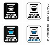 machine washable materials... | Shutterstock .eps vector #1564187920