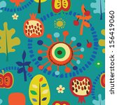 floral summer seamless pattern | Shutterstock .eps vector #156419060