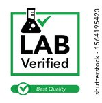 lab verified sign for label ... | Shutterstock .eps vector #1564195423