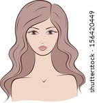 vector illustration of female... | Shutterstock .eps vector #156420449