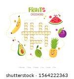 cartoon crossword in english... | Shutterstock .eps vector #1564222363