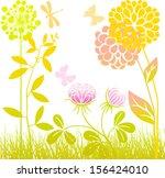 meadow flowers | Shutterstock .eps vector #156424010