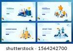 trendy flat illustration. set... | Shutterstock .eps vector #1564242700