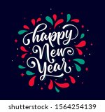 happy new year. lettering text... | Shutterstock .eps vector #1564254139