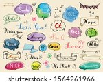 set of hand drawn phrases and...   Shutterstock .eps vector #1564261966