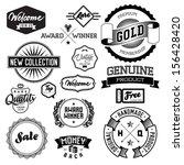 set of vintage bagdes  labels... | Shutterstock . vector #156428420