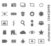 photography icons on white... | Shutterstock .eps vector #156428498