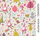 funny seamless christmas... | Shutterstock .eps vector #156430493