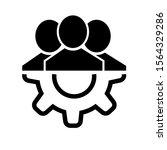 management icon. teamwork...   Shutterstock .eps vector #1564329286