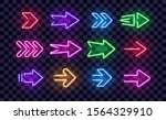 neon right arrows colorful... | Shutterstock .eps vector #1564329910