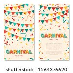 carnival vertical banners with...   Shutterstock .eps vector #1564376620