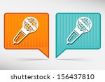 microphone map pointer  | Shutterstock .eps vector #156437810