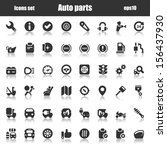 black icons set for automobile... | Shutterstock .eps vector #156437930