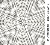 halftone radial dotted pattern. ... | Shutterstock .eps vector #1564381243
