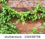 Leaf And Brick Wall