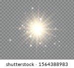 white glowing light burst... | Shutterstock .eps vector #1564388983