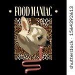 food maniac. vector hand drawn... | Shutterstock .eps vector #1564392613
