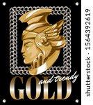 gold and trendy. vector hand...   Shutterstock .eps vector #1564392619