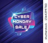cyber monday sale sticker.... | Shutterstock .eps vector #1564399783