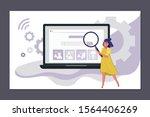 vector illustration of a woman... | Shutterstock .eps vector #1564406269