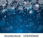 blue background with snowflakes ... | Shutterstock .eps vector #156440660