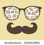 retro sunglasses with... | Shutterstock .eps vector #156441896