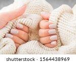 Stylish Pastel Beige Nails...